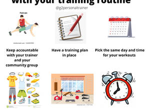 6 Tips for staying consistent with your training routine