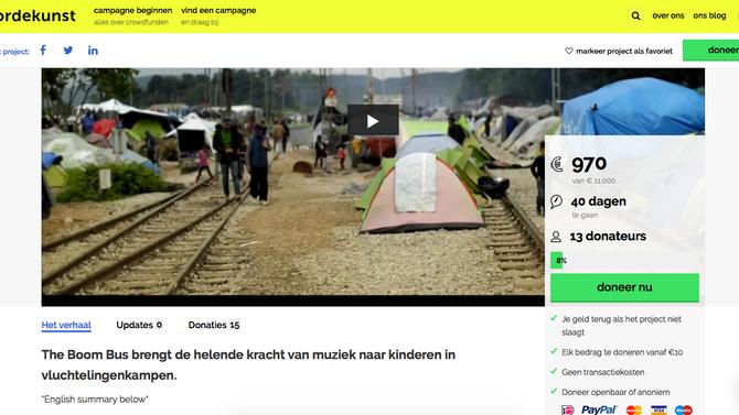 Boom Bus starts crowdfunding on Voordekunst.nl