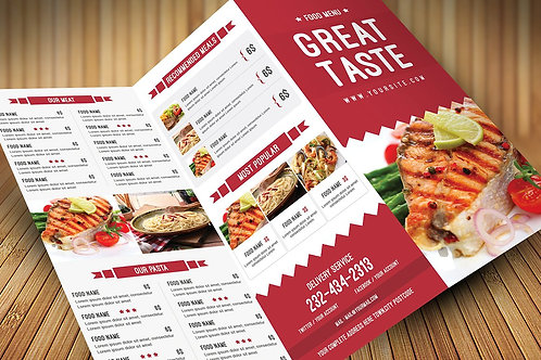Take Out Menu / Brochure