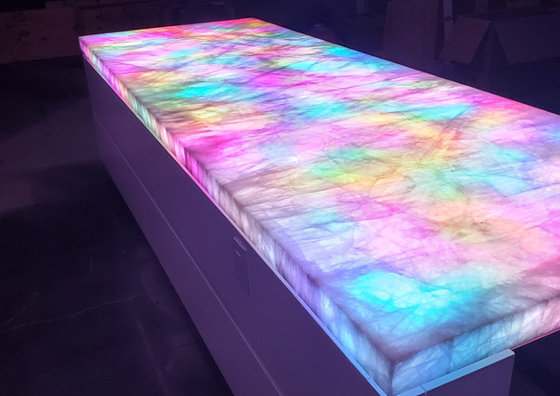 Cristallo Stone Island With Color Change Option Presented by Global Glow Lighting Design
