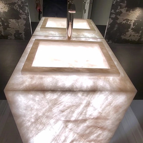 Cristallo Powder Room Sink Presented by Global Glow