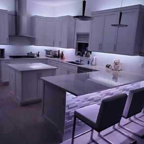 Kitchen Full illumination Presented by Global Glow Lighting Design