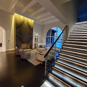 Stair & Fireplace Illumination Presented by Global Glow Lighting Design