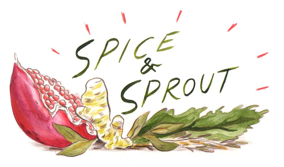 Illustration for Spice & Sprout cooking blog