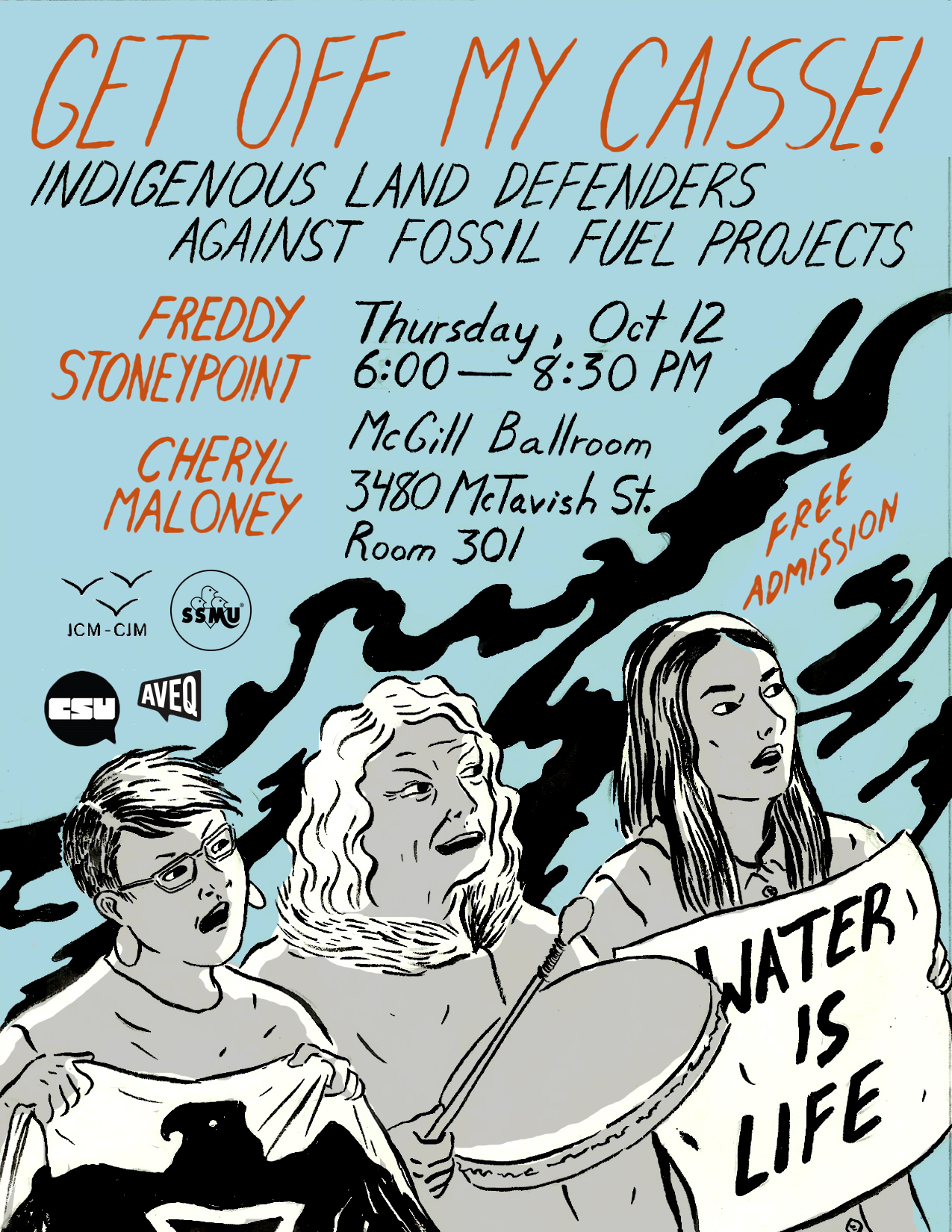 Poster for Climate Justice Montreal event