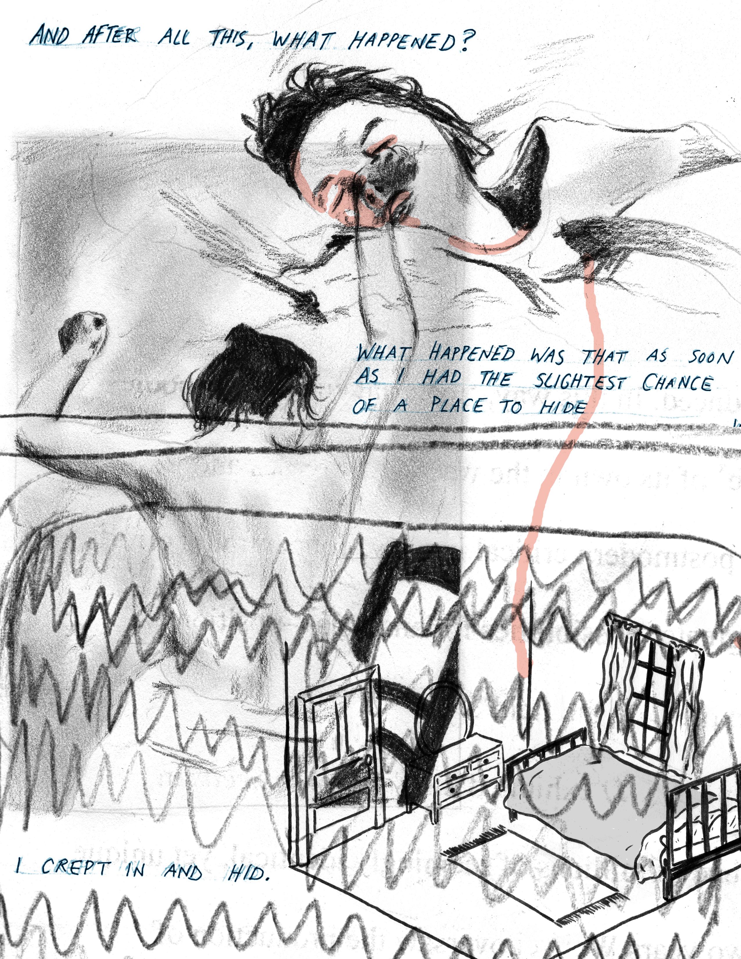 Illustration for my essay on Jean Rhys, Yiara Magazine