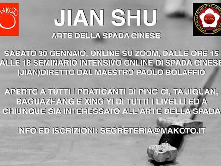 JIAN SHU - THE CHINESE SWORD SEMINAR