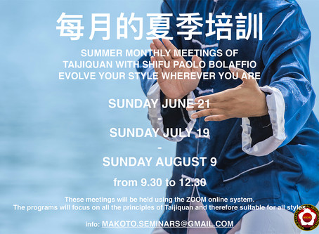 Taijiquan Summer Seminars