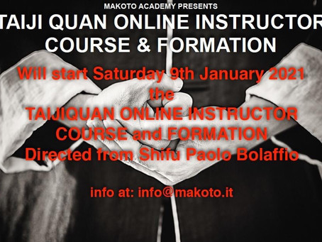 TAIJIQUAN ONLINE INSTRUCTOR COURSE