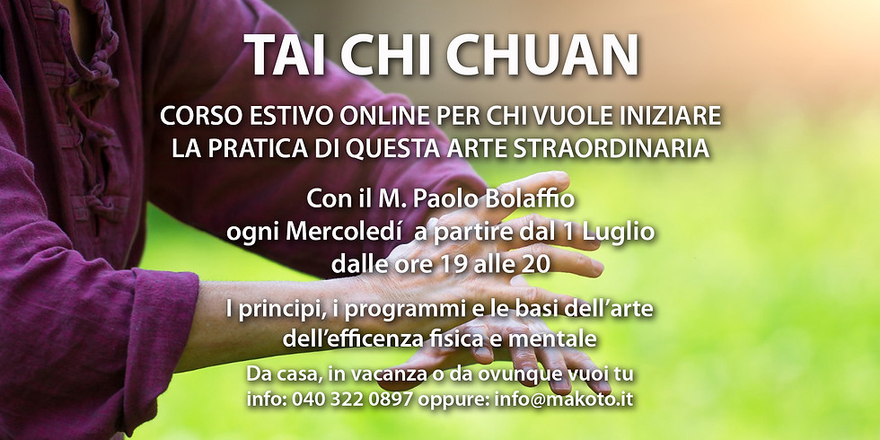 2º Corso estivo di Tai Chi per principianti - 2nd Summer Tai Chi course for beginners