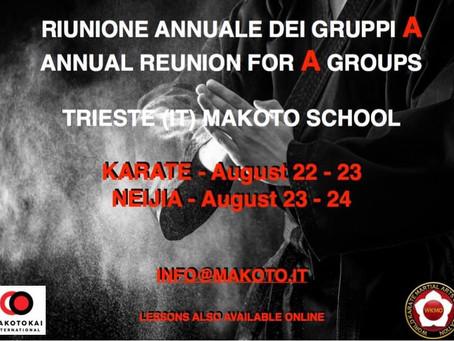 Riunione annuale Gruppo A Makotokai