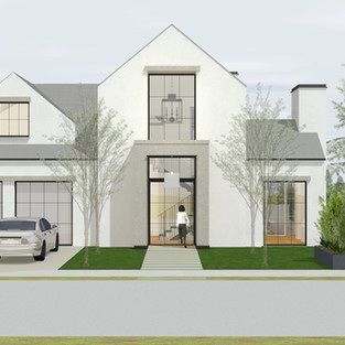 broadmoor drive front elevation perspect