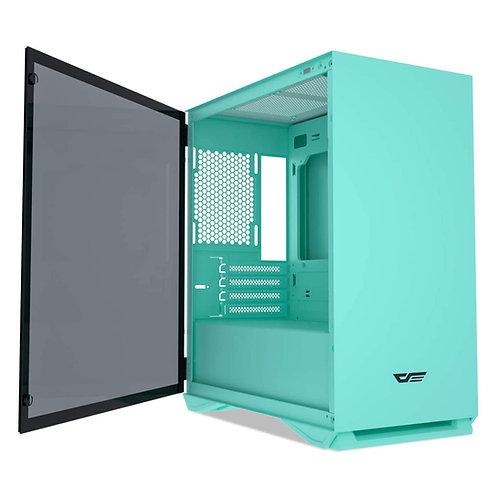 AIGO DarkFlash DLM22 Micro ATX Gaming Case - Mint Green
