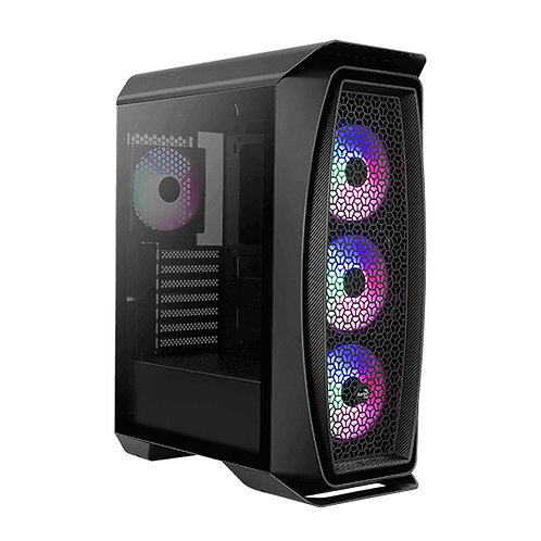 Aerocool Aero One Frost RGB Mid-tower Gaming case - Black Edition