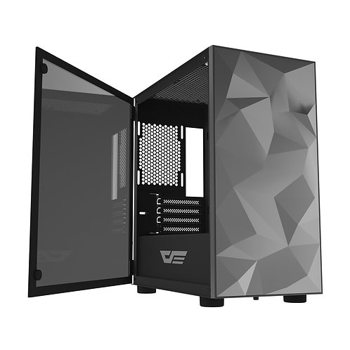 AIGO DARKFLASH DLM21 M-ATX Gaming Case - Black