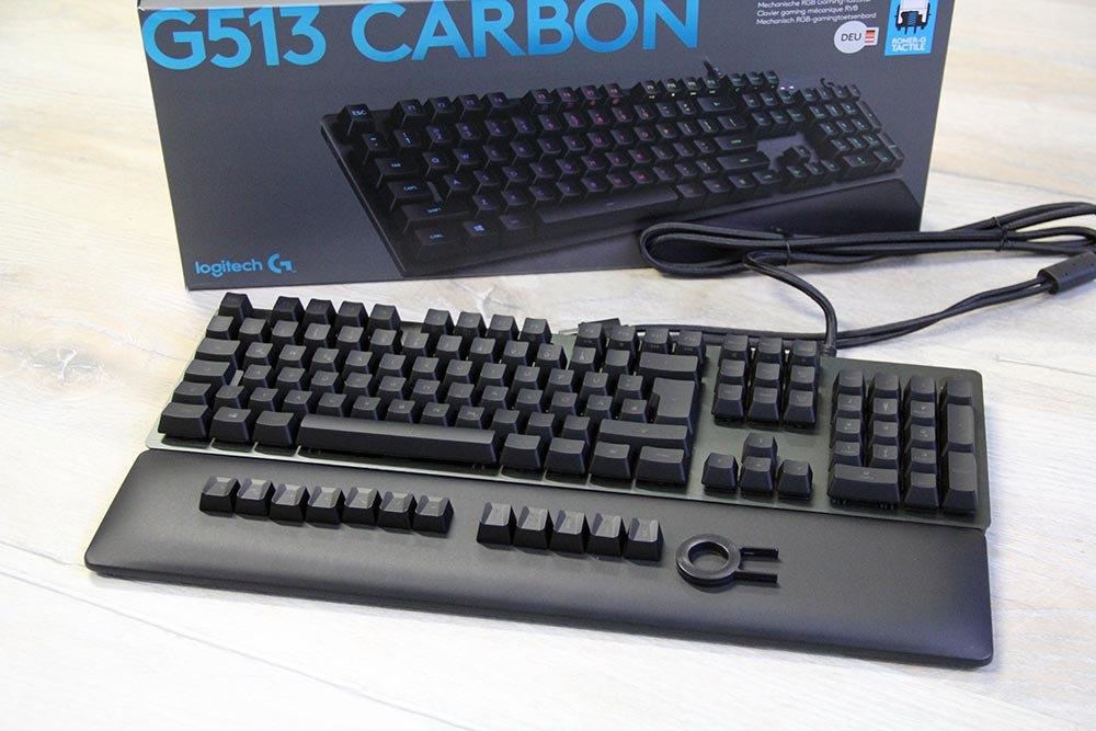 Logitech G513 Carbon RGB Mechanical Gaming Keyboard- Tactile Switch