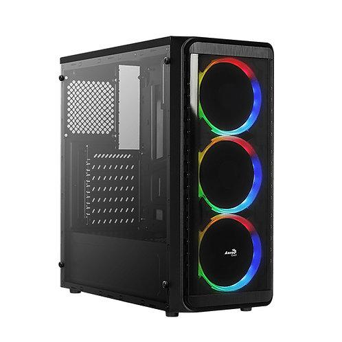 Aerocool SI-5200 RGB Mid Tower Gaming Case Glass Edition - Black