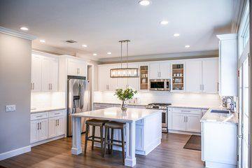 White Shaker Style Kitchen Extended Isla