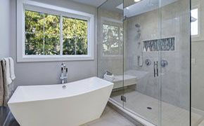 Glass Walk in Shower with bath tub.jpg