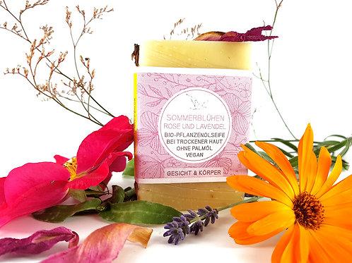 Sommerblühen mit Lavendel, Rose & Ringelblume