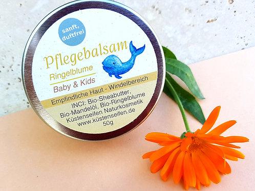 Bio Babybalsam / Kinderbalsam  - empfindliche Haut (Windelbereich) - Ringelblume