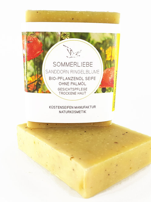 SOMMERLIEBE Seife mit Ringelblume, Sanddorn & Mohn