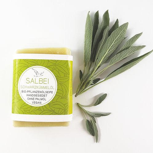 SALBEI Seife mit Sheabutter und Schwarzkümmelöl ohne Duft