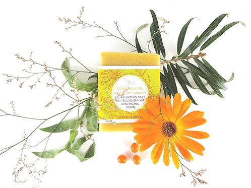 Seife Sonnengruss mit Sanddorn und Ringelblume