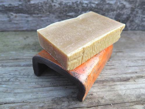 Keramik Seifenschale - RAKU - orange