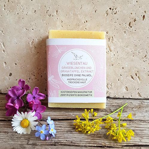 WIESENTAU Seife mit Granatapfelkern-Extrakt und Gänseblümchen