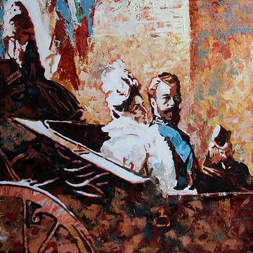 Историяеская живопись, картины на тему русской истории, Николай второй, Романовы, художник Елена Бегма, продажа картин в Москве.