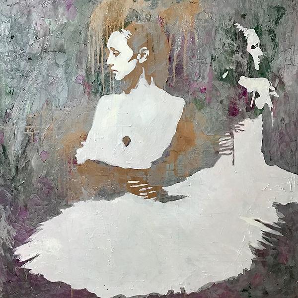 Картина с балеринами. Автор художник Елена Бегма. купить картину маслом балерина.