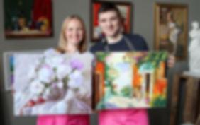 Рисовать вдвоем одну картину, арт-свидание, идеальное свидание, что подарить парню, что подарить девушке. Свидание в художественной мастерской, рисование картин в двоем, для влюбленных.