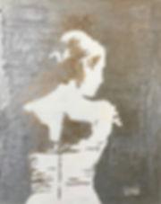 Картина с балериной. Искусство. Живопись. Абстракция. Худоджник Елена Бегма. Купить картину.