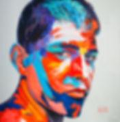 Портрет в ярких красках, яркая картина для интерьера, купить картину для интерьера, заказать портрет в современном стиле. Художник Елена Бегма