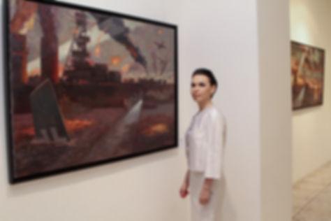 Картины Елены Бегма, Крейсер Красный Кавказ, картины на тему истории России, батальная картина, художники баталисты