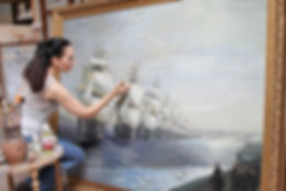 Курсы рисования. Как рисовать море. Школа Елены Бегма.