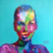 Художник Елена Бегма, автопортрет, Портрет маслом, яркие картины маслом современных художников, современные художники москвы, contempreori, modern art.