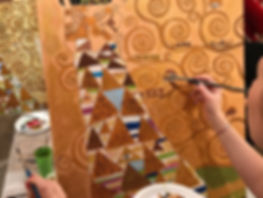 Выездные мастерклассы, рисование картин, коллективная картина в Москве