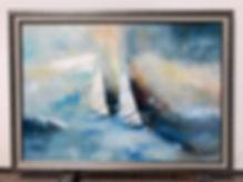 Как рисовать море мастихином. Техника мастехин.