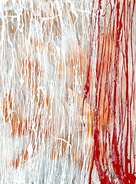 Елена Бегма современные художники. Абстрактная живопись, минимализм, абстракционизм, купить картину в современный интерьер, картины современных художников, белый и красный цвет на картине.