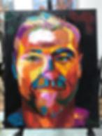 Как нарисовать яркий портрет мастихином, лицо в красках, портрет по фотографии, современное искусство портрета, как рисовать человека маслом, где учат рисовать портрет.