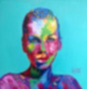 Портрет по фотографии на заказ, яркие портреты маслом на заказ по фотографии, лица в красках, цветные лица, яркий портрет, что подарить, портрт на пдарок.