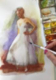 Портрет акварелью на заказ в Москве, портреты в акварельной технике, купить акварельный рисунок, рисунки акварелью, акварель на заказ
