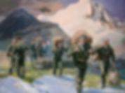 картина маслом о войне, военные картины, русская армия в картинах, историческая картина, картина о ВДВ, картина русских художников. russsian oil painting, russian historical art, Елена Бегма