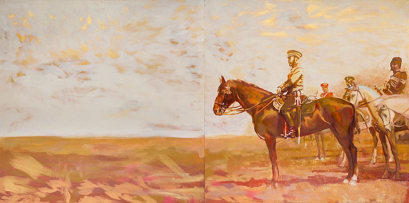 Картина император Николай второй, Художник Елена Бегма, картины на тему истории России,