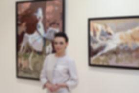 Елена Бегма, современные картины на тему истории, псовая охота, собаки, лошади на картинах.