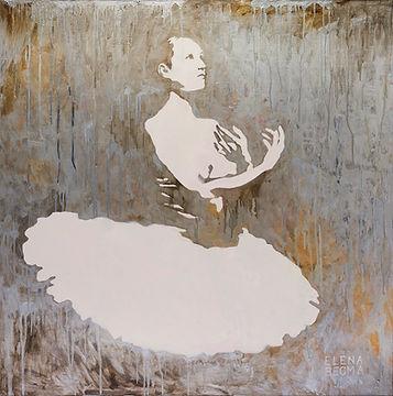 Картина художника Елены Бегма. Портрет балерины, картина с балериной. Продажа картин в Москве.