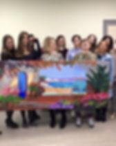 Выездные мастер-классы по рисованию, рисование в офисе, тимбилдинг по рисованию, рисование коллективных картин в офисе.