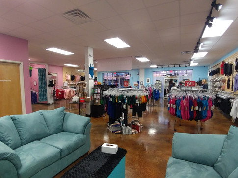 VIEW FROM BACK OF STORE
